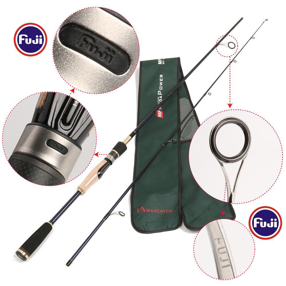 24T/IM 6 Carbon Fiber Megapower Spinning Rod 662 ML 5-10LB Line Weight Spinning Fishing Rod