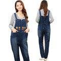 1PC Maternity Bib Overalls Pnats Autumn Jumpsuit Denim Embroidery Plus Size Pregnant Clothing Trousers