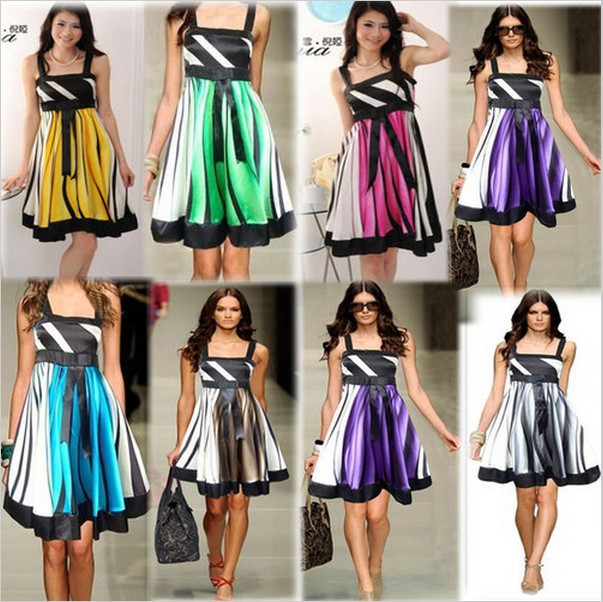 Plus Size Dresses With Bare Back In 2014 New Lady Casual Chiffon