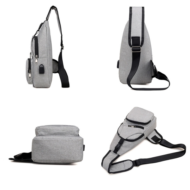Outdoor Sling Bag with USB Charging Port