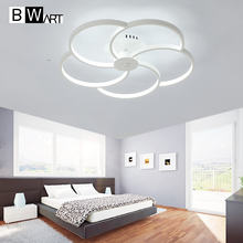 BWART Petal Circle designer Modern led ceiling lights for living room bedroom ceiling lamp led-lamp ceiling-lights(China)
