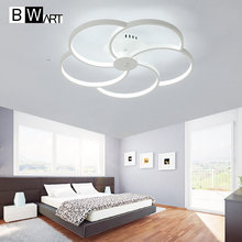 BWART Pétalo Círculo diseñador Moderno llevó las luces de techo para la sala de estar dormitorio lámpara de techo