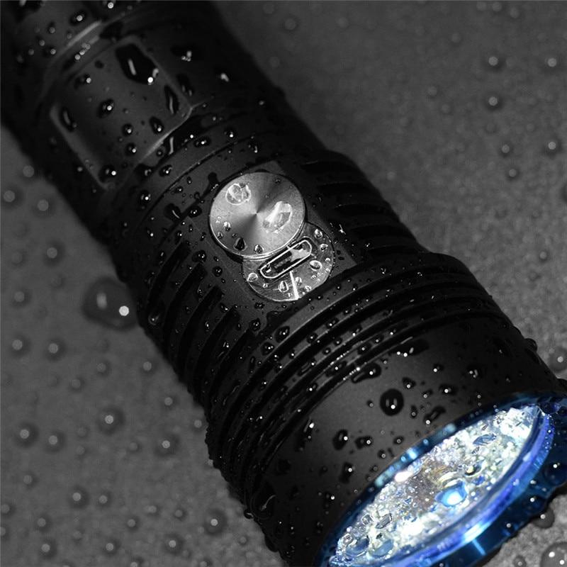 LuminTop ODF30C перезаряжаемый Cree XHP 26650 3500lm высокой интенсивности Кемпинг Туризм Открытый фонарик со стробоскопический источник света, SOS прожектор - 3