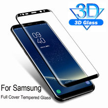 3D full Curved tempered glass on the for samsung galaxy s9 s8 s7 s6 edge plus note 8 9 screen protector sansung protective film(China)