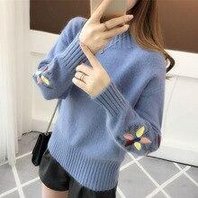 Afei Tony осенняя одежда для грудного вскармливания послеродовой Женский вязаный свитер с круглым воротником, пуловер для кормления грудью
