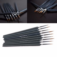 1Set/9Pcs Artists Brushes Brush Pen For Sketched Lines Gouache Watercolor Paint Oil Painting Supplies Tool Kit New Drop ship