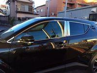 Chrom Edelstahl Oberen Fenster Trim + Zentrale Säule Abdeckung Trimmt 6 16PC Für Toyota C HR C HR 2016 2017-in Türaußengriffen aus Kraftfahrzeuge und Motorräder bei