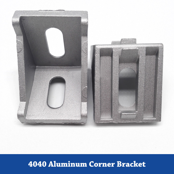 4040 Corner Aluminum Angle Bracket For Aluminum Profile Extrusion 4040 Series L Connector Bracket aluminum alloy zinc alloy flexible pivot joint connector with handle for aluminum extrusion profile 3030 4040 4545 series