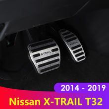 Aluminum alloy Car Accelerator Gas Brake Pedal Cover Case AT For Nissan X-Trail X Trail XTrail T32 2014 2015 2016 2017 2018 2019