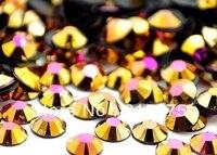 6mm Jelly Gold Hematite AB Color SS30 Crystal Resin Rhinestones Flatback Nail Art Rhinestones 10 000pcs