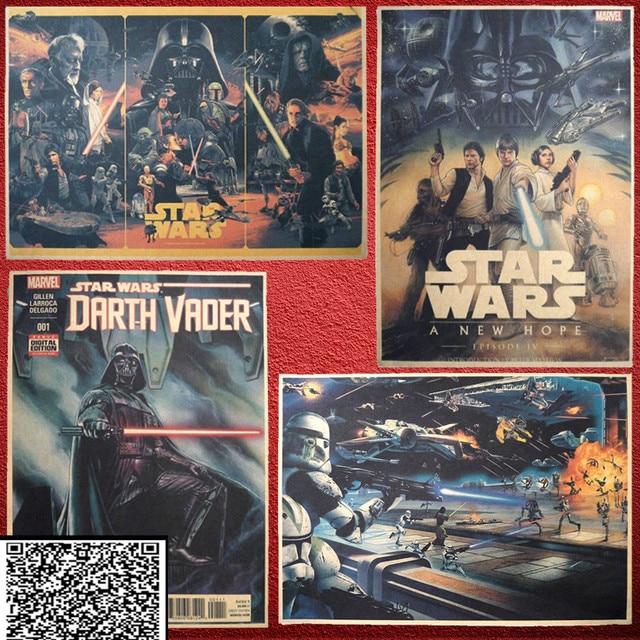 Vintage Star Wars Афиша ты Ретро Стены искусства Украшения дома Кино плакат Стены стикеры