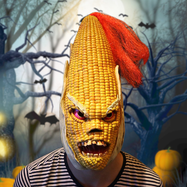 Angry Mr Old Corn Creative Mask High End Yellow Maize Headwear Party Decorations