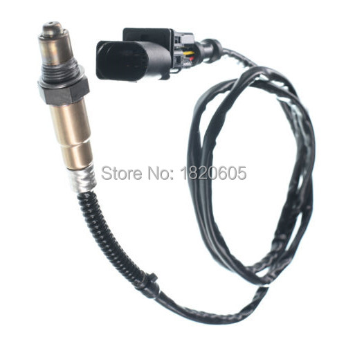 Lambda O2 Oxygen Sensor 5 Wire 0258007057 <font><b>17014</b></font> LSU4.2 Wide Band O2 Sensor for Audi A4 TT VW Golf Jetta Beelte image