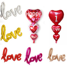 1pcs/set 32inch Love Letter Foil Baloon Champagne Balloon Wedding Party Decoration Valentines Day Gift Marriage Decor