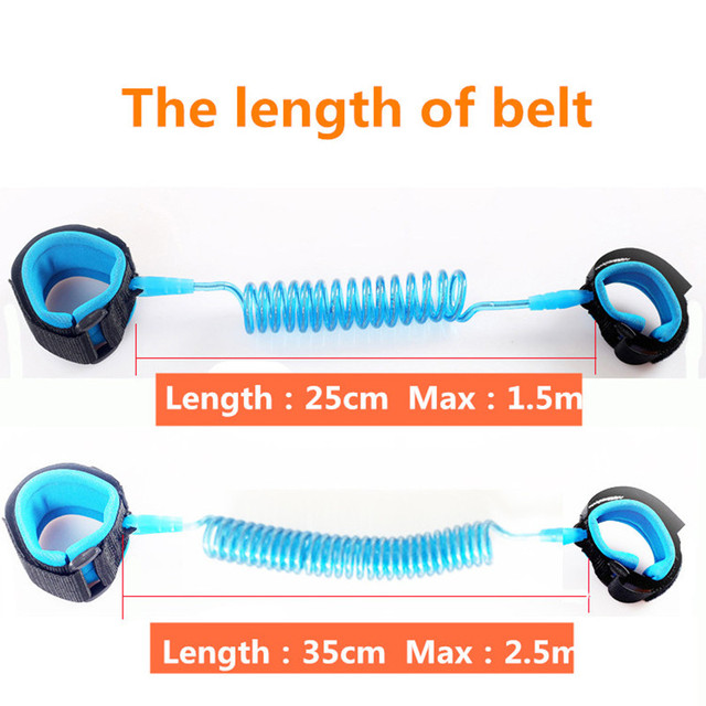 1.5m 2.5m Adjustable Kids Safety Anti-lost Wrist Link Band Children Braclet Wristband Baby Toddler Harness Leash Strap 4