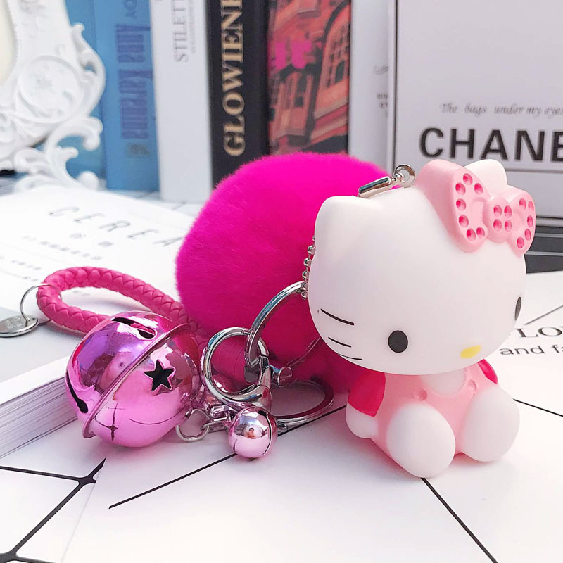 e9cd64472 Adorable Keychain Pom Pom Porte Clef Bag Car Key Ring Cartoon Fur Ball key  chain Chaveiro Gift For Women -in Key Chains from Jewelry & Accessories on  ...