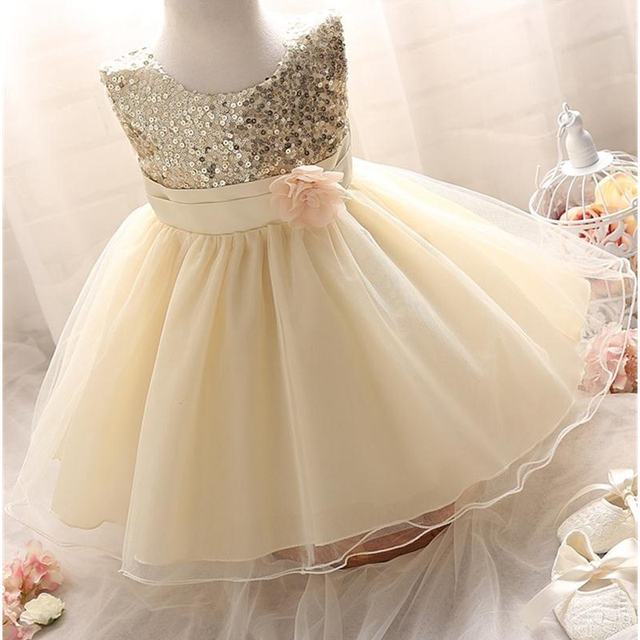 Infant Birthday Party Little Dress Baby Girl Christening Gowns Toddler Kids  Events Party Wear Clothes Girls Boutique Clothing 58bab5d042ee