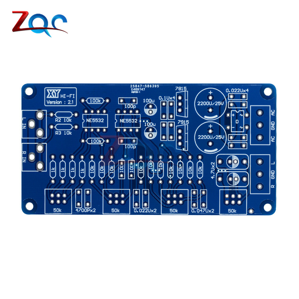 NE5532 Volume Control Audio Power Amplifier PCB Board / DIY Kit Electronic PCB Board Module-in Instrument Parts & Accessories from Tools