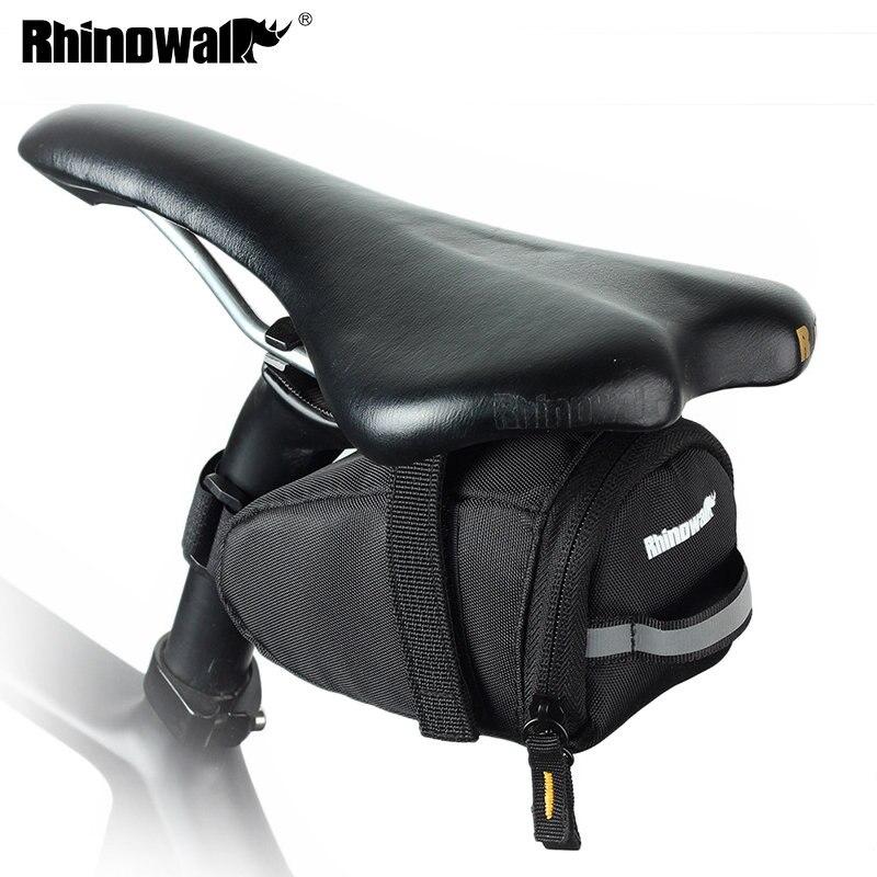Ультралегкая велосипедная сумка Rhinowalk, сумка-седло для горного велосипеда, сумка-труба для заднего велосипеда, велосипедная сумка для задне...