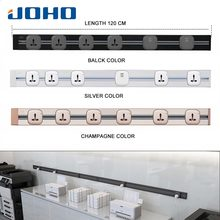 JOHO 120CM Rectangular Socket Electric Wall USB Charger Adapter EU Plug Socket Switch Power Charging Outlet Panel 250V