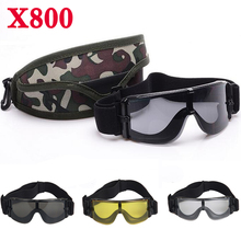 Army Military Goggles X800 Tactical Glasses for Hunting Airsoft Paintball Sport Men Sunglasses UV Protection