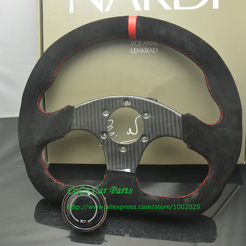 Carbon Fiber Steering Wheel About 13 inch Universal Racing Car Steering Wheel Play Steering Wheel Flat