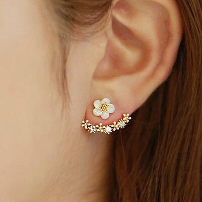 Аксессуары маленькие уши элегантный шейным серьгу женская маленькая дэйзи цветок серьги декорации