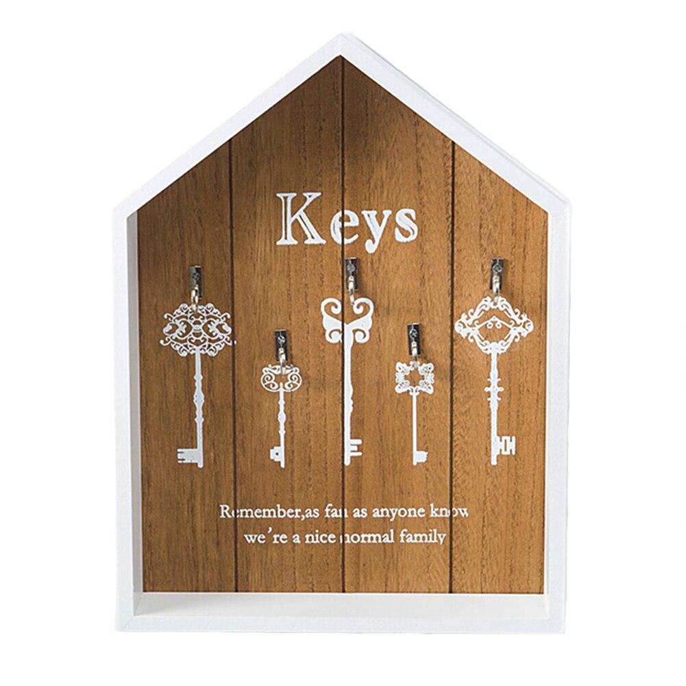 Multifunction With Hooks Bedroom Hanging Storage Office Letter Rack Cottage Key Holder Decoration Wall Mounted Wood Vintage