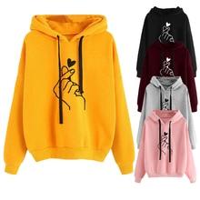 Новые Женские однотонные пуловеры с капюшоном и длинными рукавами для девочек спортивные толстовки для скейтбординга с принтом для фитнеса топы Спортивные толстовки