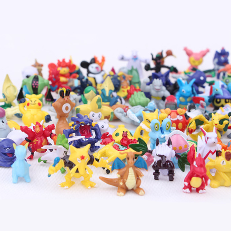 144 Pcs 2-3 cm Pikachu Action Figure Toys Japanese Cartoon Anime Mini Collections Birthday Gifts Cartoon doll toy 48pcs lots kids toys pokeball action figures pikachu anime pokeball toys mixed 2 3cm mini random mini figurine toys for children