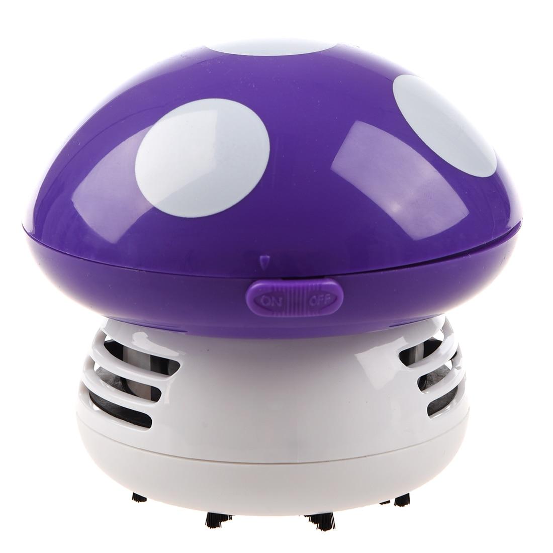 Nuevo Hogar Mano Hongo En Forma De Mini Aspiradora Portátil Coche Escritorio Polvo Limpiador-púrpura Ventas De Aseguramiento De La Calidad