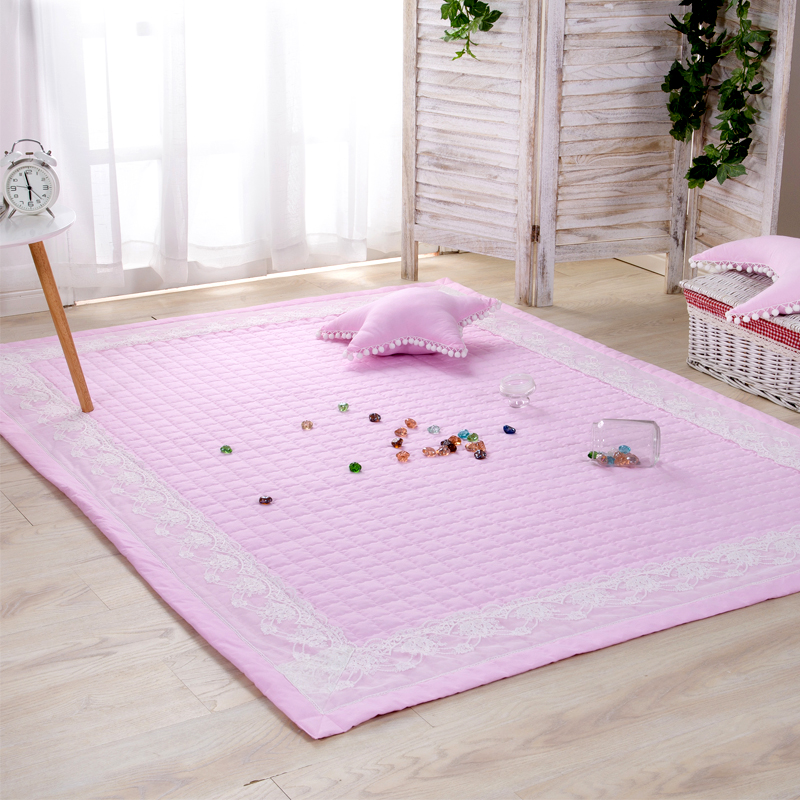 Infant Shining 150X200CM Rectangle Play Mats Diameter 150CM Round Mat Cotton Solid Color Bedside Carpet Tatami Living Room Rugs infant shining play mat nordic style rugs and carpets for living room bedroom soft velvet kid s game mat coffee table carpet