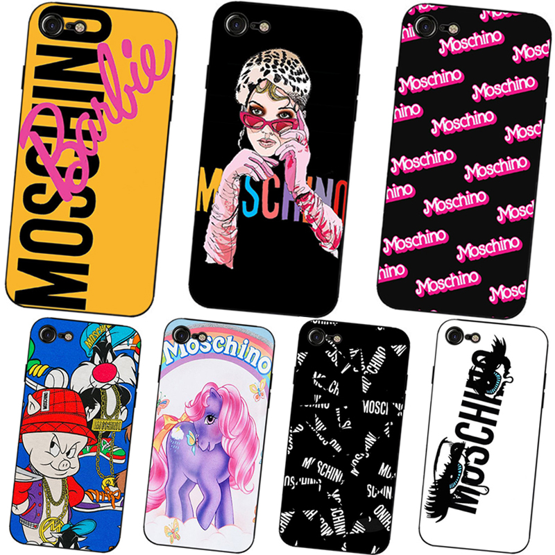 Laumans Simple soft silicon case brand Moschino Cover