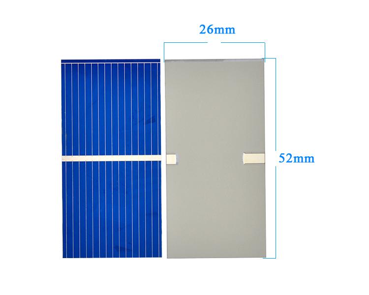 100Pcs Solar Panel China Painel Solar Polycrystalline Silicon Placa Solar DIY Panneau Solaire Solar Cells 52x26MM 0.45V 0.25W 3
