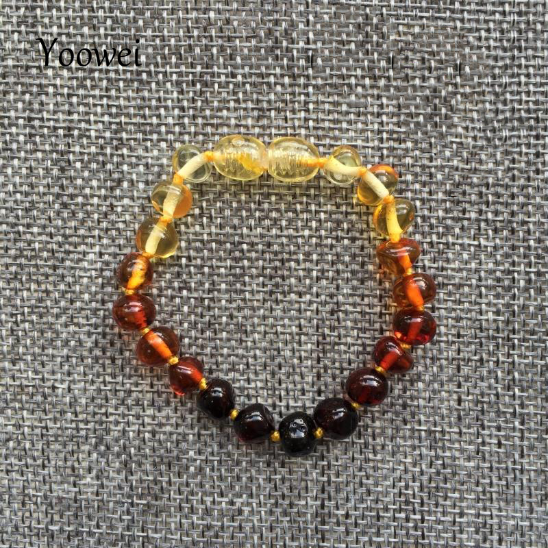 HTB1.mGvqrsTMeJjSszdq6AEupXaK Yoowei Baby Teething Amber Bracelet for Boys Girl Best Women Ladies Gift Natural Baltic Amber Jewelry Adult Anklet Sizes 13-23cm