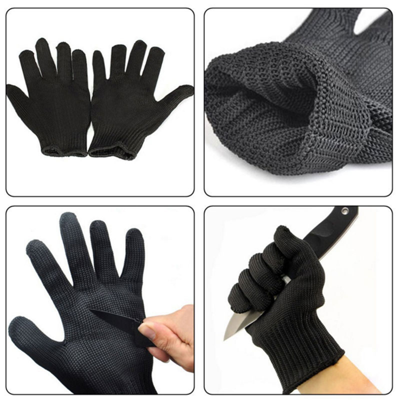 Bezbednost i zaštita ... Zaštitna radna oprema ... 32691102019 ... 4 ... NMSafety 1 Pair Cut-Proof Protect Stainless Steel Wire Safety Gloves Anti-cutting breathable Work Gloves ...