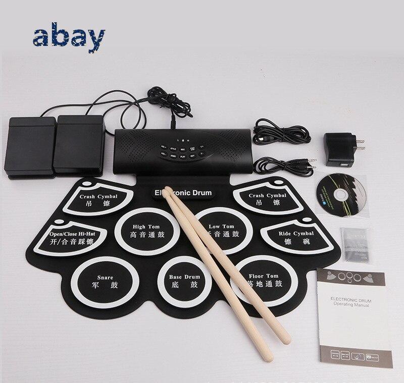 Professionelle Audiogeräte Roll Up Faltbare Tragbare Elektronische Drum Set W/bluetooth Usb Gebaut In Stereo Lautsprecher Dj Ausrüstung Kind Elektronische Trommel Set Unterhaltungselektronik