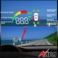 Car Blind zone Detection system with Front Bumper Sensor, Rear Bumper Sensor, Blind spot BSD Sensor and HUD Car Parking Sensor