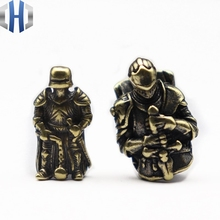 EDC DIY Knife Beads Pendant Vintage Color Brass Outdoor Tools Armour Knight Paracord