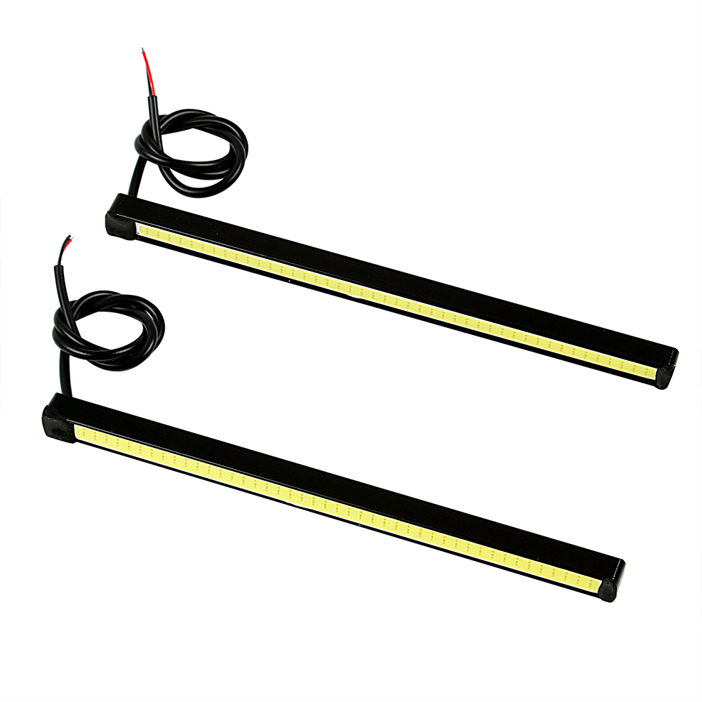 2PCS 15.5cm Car LED Daytime Running Lights Super Bright DC 12V COB LED Car DRL Auto Driving Fog Lamps Day Light Car-Styling h1 super bright white high power 10 smd 5630 auto led car fog signal turn light driving drl bulb lamp 12v