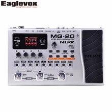 Nux mg-20 procesador de modelado de guitarra patrón de batería interruptor de pedal solo, tapo, retraso