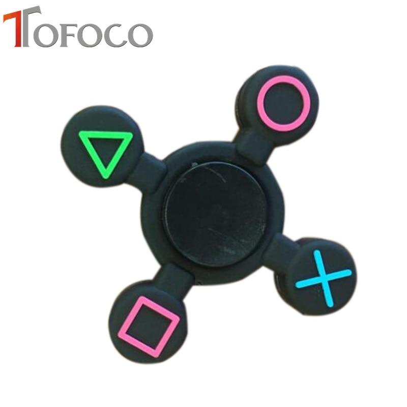TOFOCO Plastic Hand Finger Spinner Fidget PlayStation PS4 Controller Plastic Amazing Design Focus Kids Anti Stress Toy Спиннер