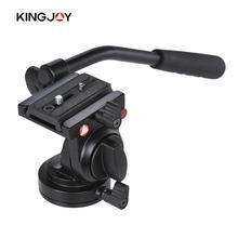 Kingjoy Tripod Head Handgrip Video Drag Tripod Head for Canon Nikon DSLR Camera Camcorder Max. Load Capacity 5kg Aluminum Alloy