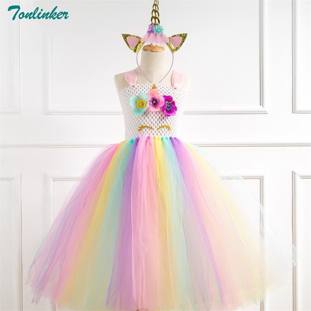 347263073d03 קנו תחפושות ואביזרים | Unicorn Costume Flower Girls Unicorn Tutu ...