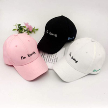 Fashion Summer Women Men Baseball Cap Letter Embroidery Print Unisex Hats Adjustable  Hip Hop Sun
