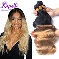 Ombre Brazilian Hair Ombre Weave Brazilian Body Wave Ombre Human Hair Bundles Ombre Wig T1B/27 4 Bundles