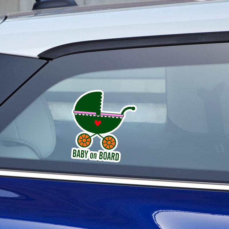 Yjzt 13.8*15.1 см Предупреждение знак Цветной автомобиля Стикеры ребенок на борту украшения автокресла Графический мультфильм c1-5567