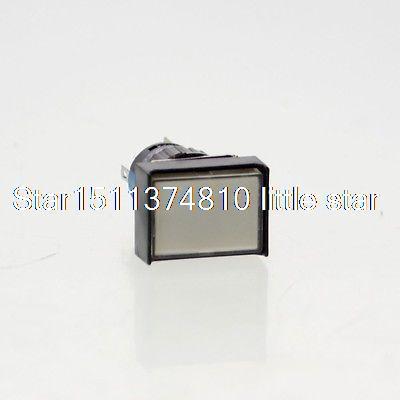 5x Rectangular Panel Mount White Light 16mm Momentary Push Button Switch DC 12V