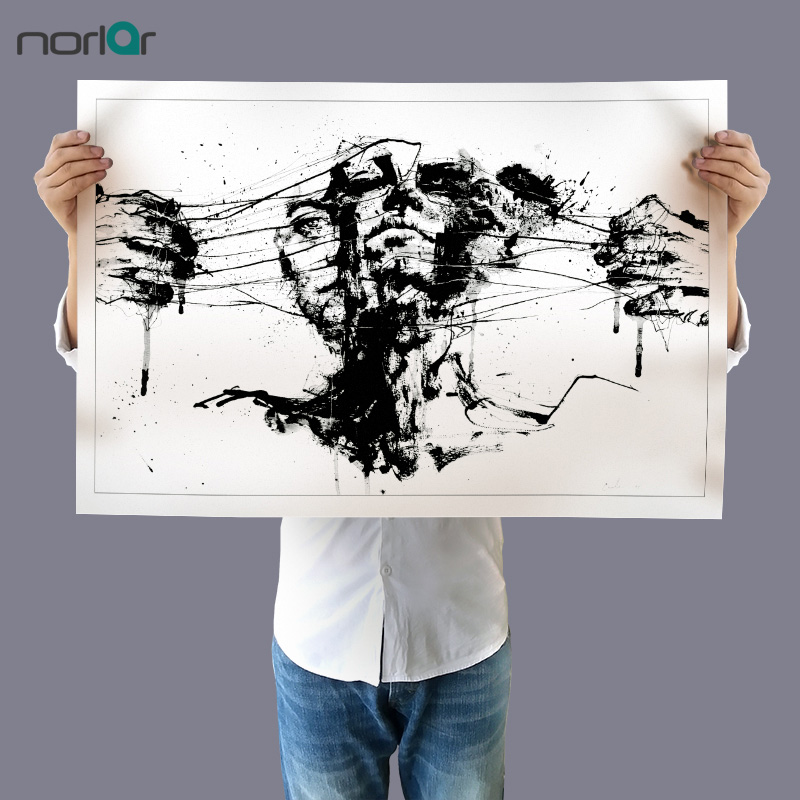 HD Printed White and Black Drawing Restraints Art Print Canvas Painting Modern Wall Art Picture Home Decor No Frame