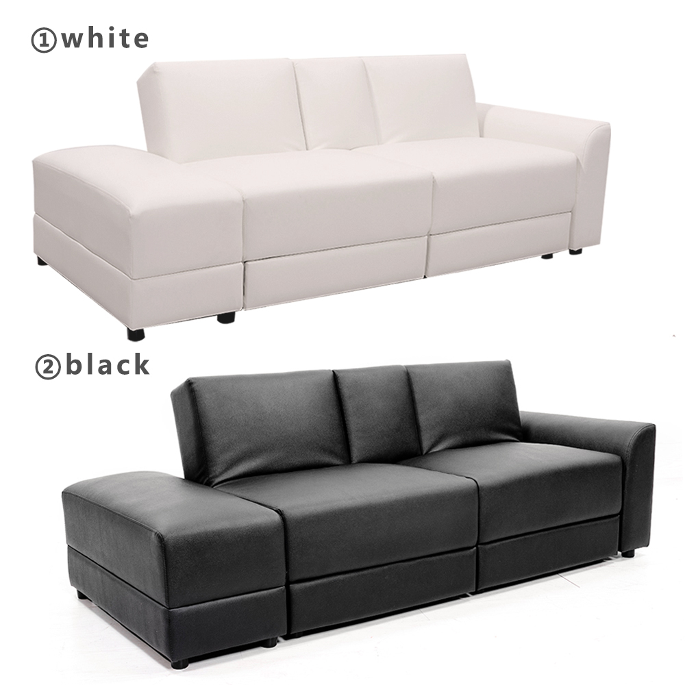 Functional Sofa Bed PU Sectional Sofa Lounge Storage